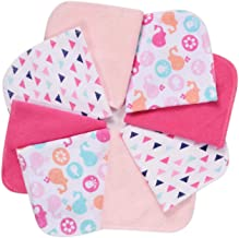"""Baby Washcloths, Momcozy Ultra Soft Absorbent Towel, 8pcs Newborn Bath Face Towel, Natural Reusable Baby Wipes for Sensitive Skin, Baby Registry as Shower, 10""""x10"""" (Pink)"""