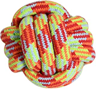 HOUZE OPT-153 Pet Toys Knotted Ball, Small, Red