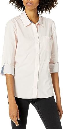 Tommy Hilfiger Women's Roll Tab Button Down Shirt