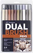 Tombow 56194 Dual Brush Pen Set, Neutral Palette, 20-Pack. Blendable, Brush and Fine Tip Markers