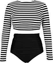 Best long sleeve crop top bathing suit Reviews