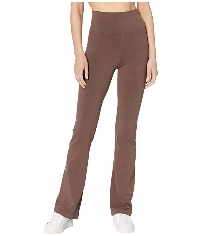 Hard Tail Rolldown Bootleg Flare Pants (Mocha) Women