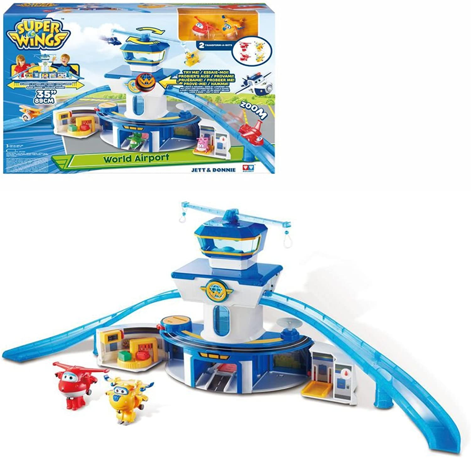 Super Wings  Play Set World Airport Control Tower Light & Sound English