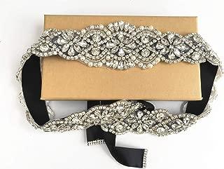 ZIUMUDY Handmade Rhinestone Bridal Belt Wedding Belts Sashes Crystal Beads Belt For Bridal Gowns