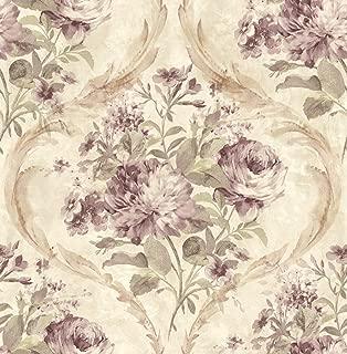 Rose Wallpaper Floral Vintage Wallpaper Floral Purple Wallpaper Victorian Wallpaper Vintage Damask Wallpaper Chinoiserie Wallpaper