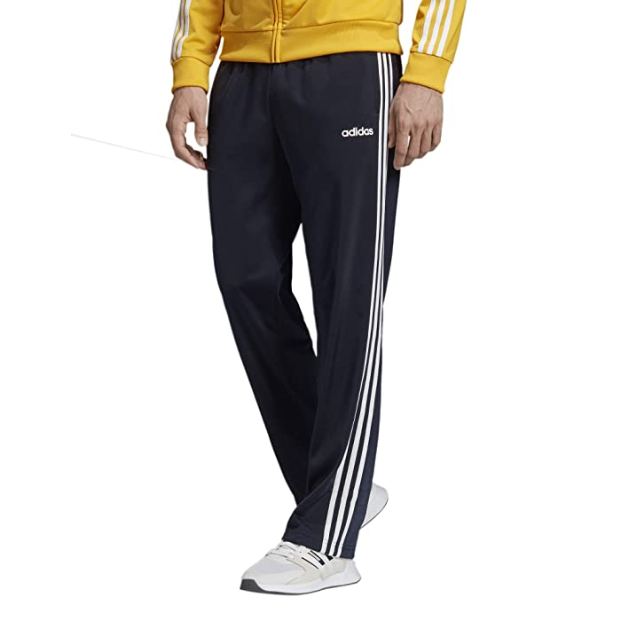 adidas  Big Tall Essential 3-Stripes Open Hem Tricot Pants (Legend Ink/White) Mens Casual Pants