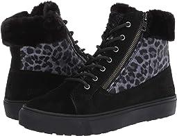 Black/Leopard Suede/Nylon