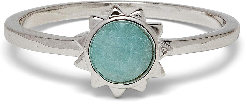 Pura Vida Silver Award Sunkissed Detroit Mall Ring - Chalcedony B Stone Base Brass
