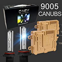 O-NEX HB3 H10 9005 9145 Canbus 55W AC Xenon HID Lights Assembly with Slim Digital Ballast 10000K Deep Blue
