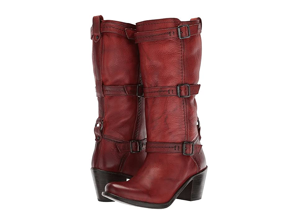 Frye Carmen 3 Strap (Burnt Red) Women