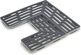 Joseph Joseph 85037 SinkSaver Adjustable Sink Protector Mat Two Grid Sections Fits Different Drain Positions Non-Slip, Gray