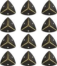 Hemoton 12Pcs Antique Caixa De Madeira Triângulo Borda Protetor de Canto Guarda de Segurança de Metal Móveis Gabinete Amor...