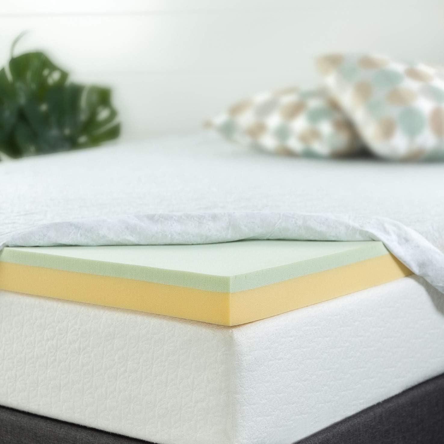 ZINUS Green Tea Memory Foam 3-Inch Queen Mattress