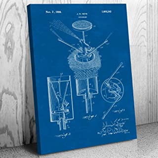 Pop Up Sprinkler Canvas Print, Gardening Gift, Lawn Care, Water Sprinklers, Irrigation Equipment, Home Improvement Blueprint (16