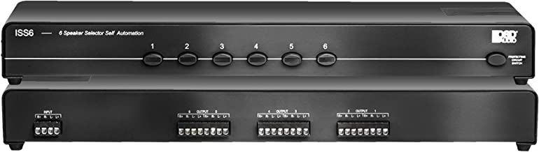ISS6 6-Channel High Power Stereo Speaker Selector Switch with Impedance Matching Protection - OSD Audio