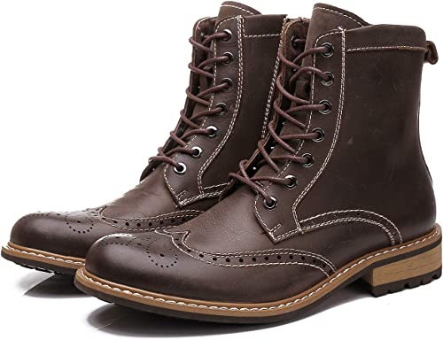 LOVDRAM Bottes Homme Winter New New Leather Martin bottes Hommes's Fashion Wild in The Fashion Retro bottes Hommes's chaussures Desert bottes