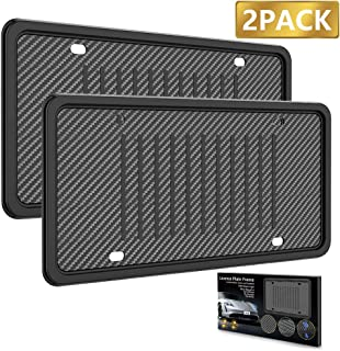 LEADSTAR License Plate Frames Silicone License Plate Holder, Rust-Proof Rattle-Proof Weather-Proof with 3 Drainage Holes B...