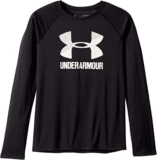 Under Armour Little Boys Black Big Graphic Stacked Layered Shirt 6