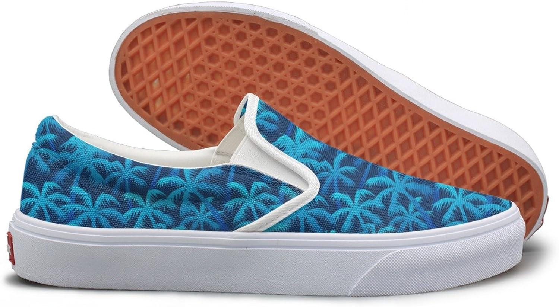Tropical bluee Palm Forest Sneaker Women Walking