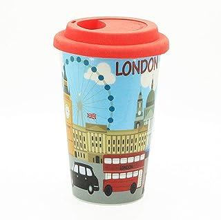 Sterling Product DWM012 Travel Double Wall Coffee Mug, Ceramic, 300 milliliters