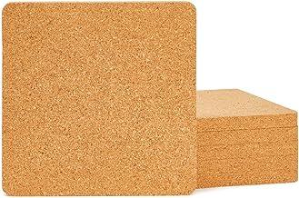 Juvale 6-Pack Cork Trivet Set - Square Corkboard Placemats Kitchen Hot Pads for Hot Pots, Pans, and Kettles, 7 x 7 x 0.5 I...