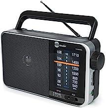 HDi Audio Home Portable Retro AM/FM Radio Player + Headphone Jack + Built in Speaker..