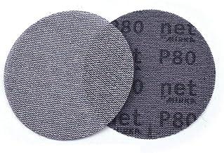UIEMMY Sandpapper 50 st 125 mm mesh dammfri anti-blockerande krok och ögla slipskivor runt slipande sandpapper, 180