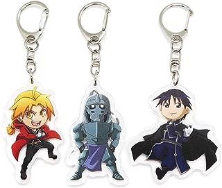 EBTY-Dreams Inc. - Set of 3 Fullmetal Alchemist Anime Acrylic Keychain Edward Elric, Alphonse, Roy Mustang