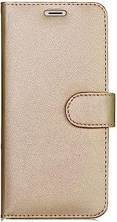 kompatibel för WIKO Y80 (skärm 5,99) skyddande skyddande skyddsfodral stående lutning bok gel TPU mjuk ekologisk läderplån...