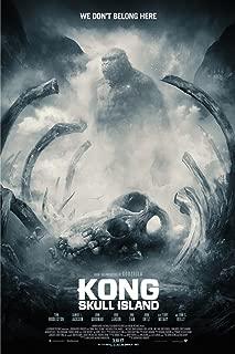 Kong-Skull Island Monster Tom Hiddleston Movie 2017 Poster 36 inch x 24 inch / 20 inch x 13 inch