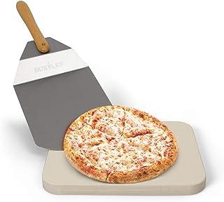 Naturaleza 19 X 19 Cm Rustler RS-5838 Pizza Piedra Juego De 4