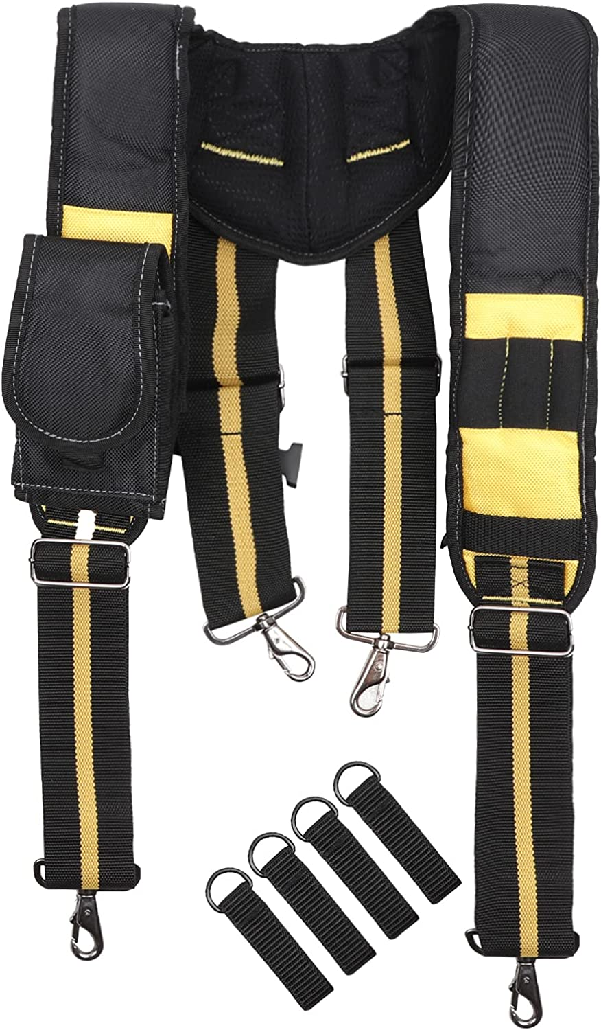 Ultra-Cheap Deals Tool Belt Suspenders Padded Belts with Phone Suitable Bag OFFicial site