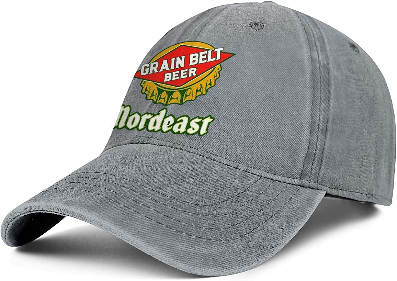 Mail order cheap Men Cowboy Cap Grain-Belt- Vintage Baseball Ha Adjustable Chicago Mall Washed
