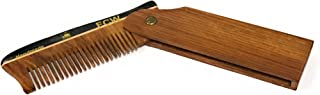 GBS Wooden Folding Pocket Comb SWITCH BLADE - Rosewood All Purpose Hair and Facial Comb for Men and Women. Anti static No cling The Best