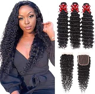 Best brazilian deep wave curly virgin hair Reviews