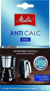 Melitta Détartrant en Tablettes, Pour Cafetières à Filtres et Bouilloires, 4 x 12 g
