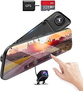 【令和2020年最新版12インチ液晶大画面&GPS搭載】ドライブレコーダー ミラー型 前後カメラ 2k 高解像度 170度広角 SONYセンサー 駐車監視 衝撃録画 常時録画 Gセンサー 暗視機能 上書き機能 ドラレコ タッチスクリーン 車載カメラ スマートルームミラー フルHD デジタルインナーミラー 電波障害/ノイズ対策 リアカメラ 32GB SDカード付き 日本語取扱説明書 12ヶ月安心保証