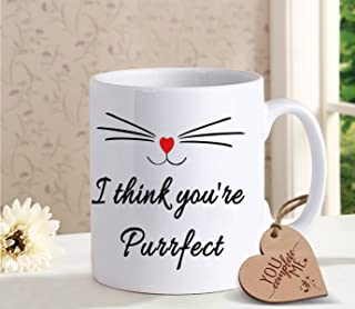 TIED RIBBONS Bithday, Anniversary Gift for Wife Husband - Romantic Gift for Him or Her - Coffee mug for Girlfriend Boyfriend with Wooden Tag