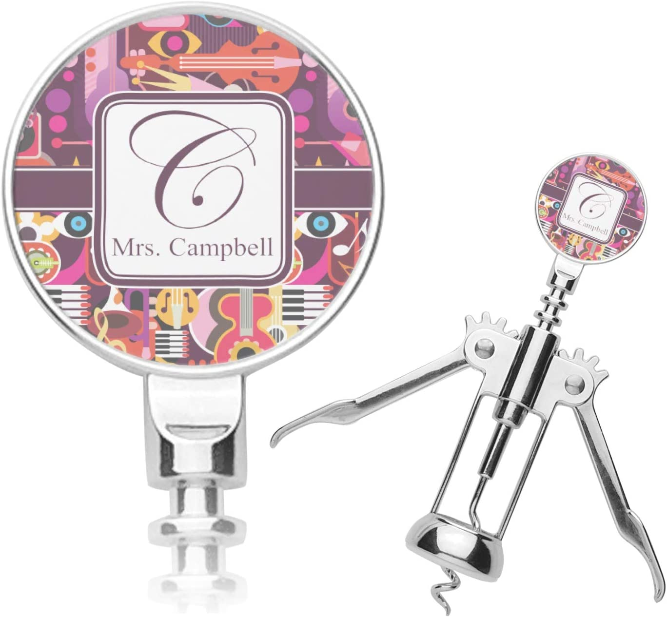 Max 63% OFF Genuine Abstract Music Corkscrew Personalized