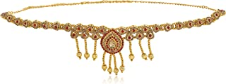 WomenSky Stylish Gold Polished Peral Kamarpatta for Women