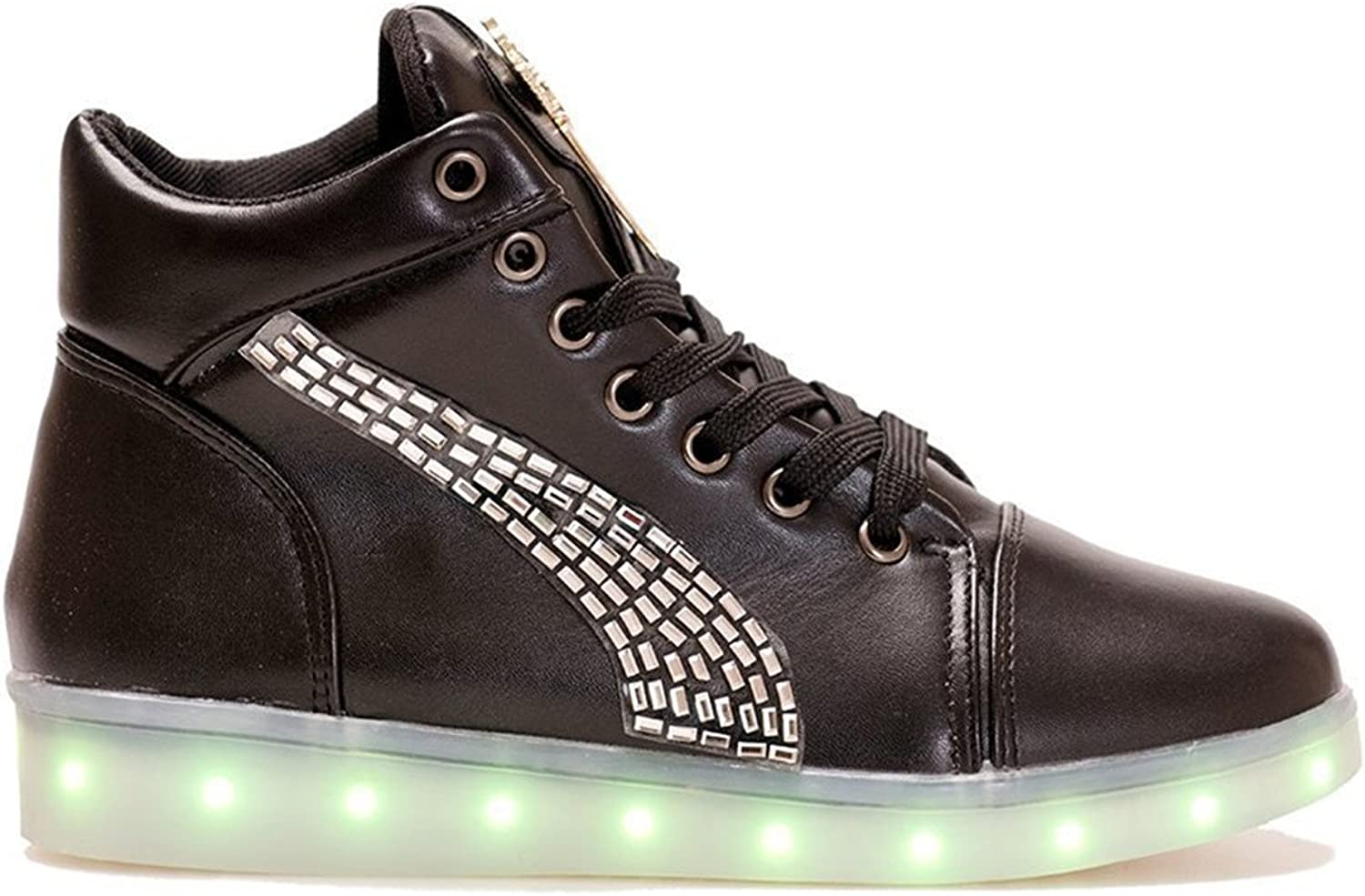 Reinhar Fashionable Girls White Led Light Up shoes for Adults Women Best Gifts(Choose a Bigger Size)