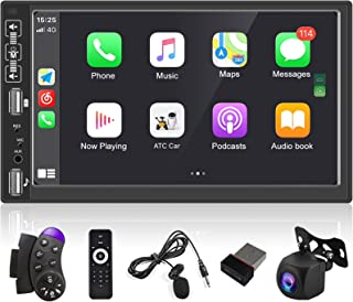 $89 » 7 Inch Double Din Touch Screen Car Stereo with Bluetooth D-Play Mirror Link for Android/iOS Phone Support Wireless Mobile ...