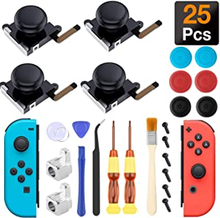 Joycon Joystick Replacement, (4 Pack) Switch Analog Stick Parts for Nintendo Switch Joy Con, Controller Repair Kit Include...