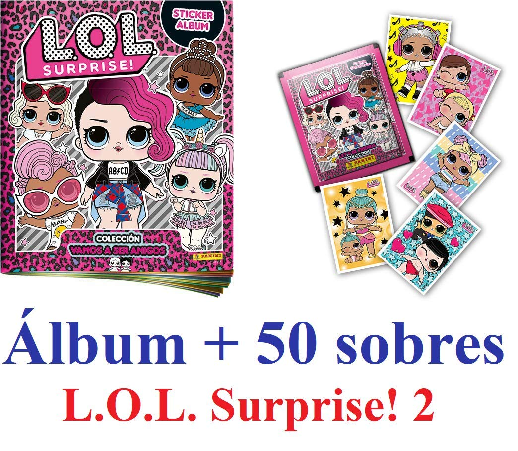 LOL SURPRISE 2 Album + 50 Sobres (Pegatinas) ¡¡¡ Novedad!!! Vamos a ser Amigos: Amazon.es: Juguetes y juegos