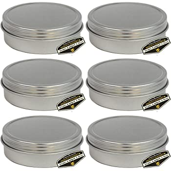 Screw Top Round Steel Tin Cans R 24 Pack of Mighty Gadget SYNCHKG117584 1 oz