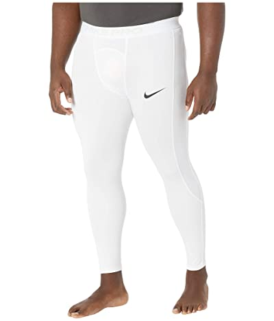 Nike Big Tall Pro 3/4 Tights (White/Black) Men