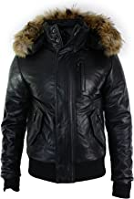 leather bomber jacket with fur hood
