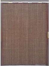 Jcnfa-Persianas Cortina De Bambu Puerta Corredera Plegable Sola Apertura Cortina De Particion Sala De Estar Cocina Dormitorio Balcón. Persiana Enrollable (Color : Black Brown, Size : W 105*H 120cm)