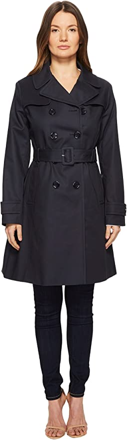 "38"" Double Breasted Trench Coat w/ Tie Waist"