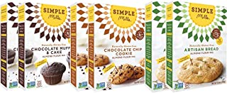 Simple Mills Almond Flour Mix Variety Pack, Artisan Bread, Chocolate Chip Cookie, Chocolate Muffin & Cake, 10.4 Ounce (Pack of 6), Combo 3
